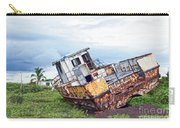 Rusty Retired Fishing Boat Carry-all Pouch