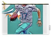 Ryan Tannehill Miami Dolphins Oil Art Carry-all Pouch