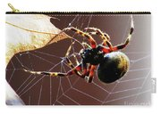 Sac Spider Catches A Leaf Carry-all Pouch
