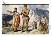 Sacagawea With Lewis And Clark During Their Expedition Of 1804-06 Carry-all Pouch by Newell Convers Wyeth