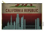 Sacramento City Skyline State Flag Of California Art Poster Series 023 Carry-all Pouch