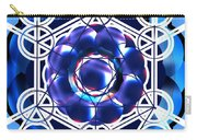 Sacred Geometry Blue Shapes Background Carry-all Pouch
