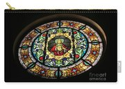 Sacred Heart Of Jesus Stained Glass Window Carry-all Pouch