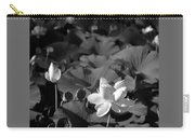 Sacred Lotus #2.    Black And White Carry-all Pouch