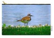 Sad Bird Near Pond Carry-all Pouch