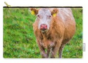 Sad Cow - Painterly Carry-all Pouch