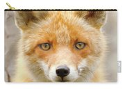 Sad Eyed Fox Of The Lowlands - Red Fox Portrait Carry-all Pouch