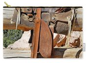 Saddle On Ranch Fence Carry-all Pouch