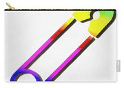 Safety Pin Rainbow Painting Carry-all Pouch