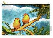 Saffron Finch Birds #88 Carry-all Pouch