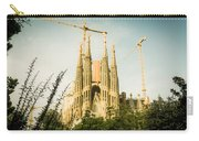 Sagrada Familia With Catalonia's Flag Carry-all Pouch