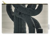 Saguaro Cactus Armed And Twisted Carry-all Pouch