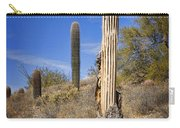 Saguaro Cactus Skeleton Carry-all Pouch
