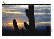 Saguaro National Park Sunset Landscape Carry-all Pouch