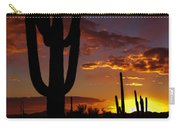 Saguaro Sunset Silhouette #2 Carry-all Pouch