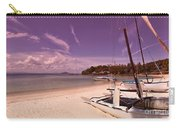 Sail Boats On Tropical Beach Carry-all Pouch