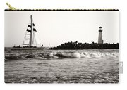 Sailboat And Lighthouse 2 Carry-all Pouch by Marilyn Hunt