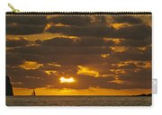 Sailboat As The Sun Sets Carry-all Pouch