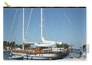 Sailboat In Harbor Summer Vacation Scene Carry-all Pouch