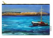 Sailboat Off Karpathos Greece Greek Islands Sailing Carry-all Pouch