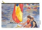 Sailboat Painting In Watercolor Carry-all Pouch