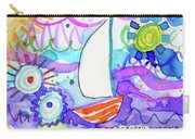 Sailboat With Sun Carry-all Pouch