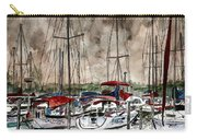 Sailboats At Night Carry-all Pouch