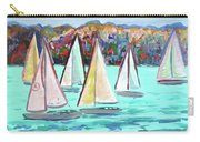 Sailboats In Spain I Carry-all Pouch by Kristen Abrahamson
