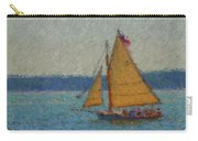 Sailing At Spruce Point Boothbay Harbor Maine Carry-all Pouch
