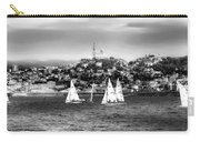 Sailing Boat  Black-and-white Carry-all Pouch