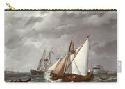 Sailing Boats On A Choppy Sea Carry-all Pouch