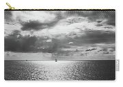 Sailing Dreams Black And White Carry-all Pouch