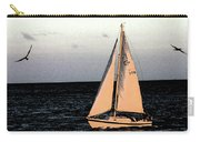 Sailing Off Of Diamond Head Carry-all Pouch