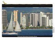Sailing Off Waikiki Carry-all Pouch