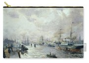 Sailing Ships In The Port Of Hamburg Carry-all Pouch