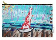 Sailing The Coast Abstract Carry-all Pouch