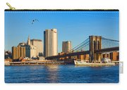 Sailing Under The Brooklyn Bridge - Impressions Of Manhattan Carry-all Pouch