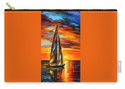 Sailing With The Sun - Palette Knife Oil Painting On Canvas By Leonid Afremov Carry-all Pouch