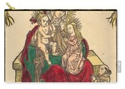 Saint Anne, The Madonna And Child, And A Franciscan Monk Carry-all Pouch