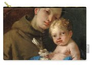 Saint Anthony Of Padua And The Infant Christ Carry-all Pouch
