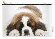 Saint Bernard Puppy Sleeping Carry-all Pouch