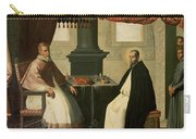 Saint Bruno And Pope Urban II Carry-all Pouch by Francisco de Zurbaran