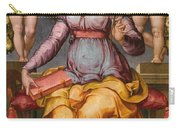 Saint Catherine Of Alexandria Crowned By Two Angels Carry-all Pouch