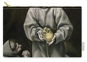 Saint Francis And Brother Leo Meditating On Death Carry-all Pouch