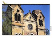 Saint Francis Cathedral Santa Fe Carry-all Pouch by Kurt Van Wagner