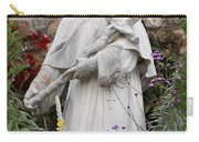 Saint Francis Statue In Carmel Mission Garden Carry-all Pouch