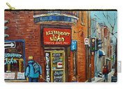 Saint Henri Street In Winter Carry-all Pouch