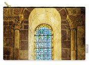 Saint Isidore - Romanesque Window With Stained Glass - Vintage Version Carry-all Pouch