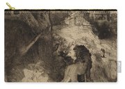 Saint Jerome In An Italian Landscape Carry-all Pouch