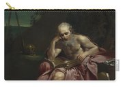 Saint Jerome In The Desert Carry-all Pouch